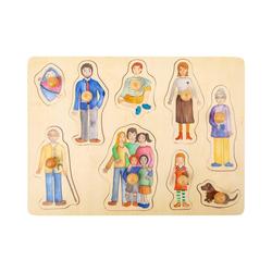 Small Foot Puzzle Setzpuzzle Familie und Freunde, 10 Puzzleteile