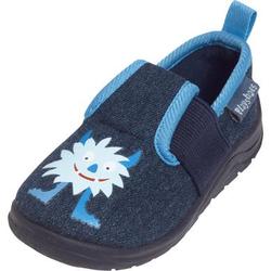 Playshoes Hausschuh Monster jeansblau
