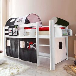 Kinderhochbett mit Vorhang Leiter