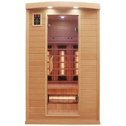 Dewello Infrarotkabine Hyder, BxTxH: 115 x 105 x 190 cm, 50 mm, für bis zu 2 Personen