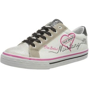 MUSTANG Mädchen 5056-305-124 Sneaker, Mehrfarbig (Silber/Weiß 124), 39 EU