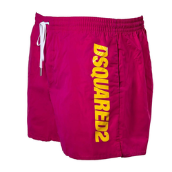 Dsquared2 Badeshorts Herren Badehose - Boxer Midi, Badeshort, Logo, rosa 2XL