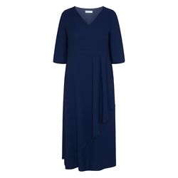 Maxikleid LANGES KLEID MIT CHIFFON SPGWOMAN navy blue