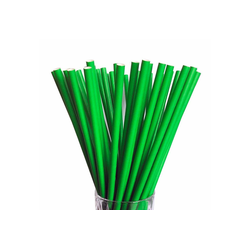 LUXENTU Trinkhalme Papier Trinkhalm Jumbo 100 Stück grün, (100-tlg)