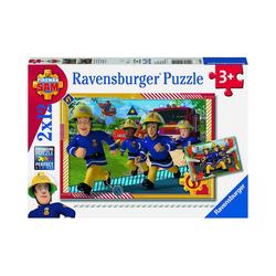 Ravensburger Puzzle Sam und sein Team, 2er Set Puzzle, je 12 Teile, Puzzleteile