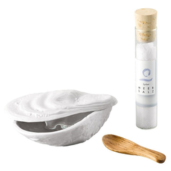 Rosenthal Schale Austerndose, Porzellan, (Set, 3-tlg), inkl. Salz und Holzlöffel