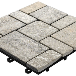 planeo Klickfliese Stone - Quarz Roma Grau -