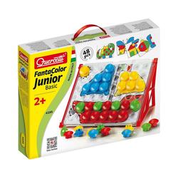 Quercetti Steckspielzeug Quercetti Fanta Color Junior Basic, 48-tlg.
