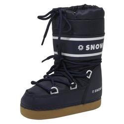 dynamic24 Snowboots Jungen Mädchen Winterstiefel Winter Schuhe Stiefel Schneeschuhe Snowboots Boots navy 33-35