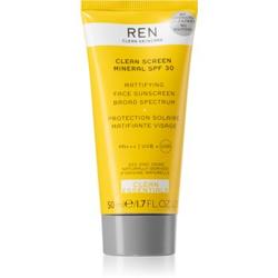 REN Clean Screen Mineral SPF 30 mattierende Sonnencreme für das Gesicht SPF 30 50 ml