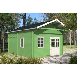 Gartenhaus Modell Gotland-70 G mit Schlafboden (11,4 m²), ohne Imprägnierung