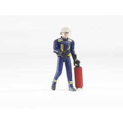 Bruder Feuerwehrmann mit Helm, Handsch., Zubehö 60100