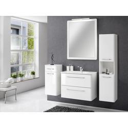 Badezimmer Beta in Weiß mit Glanzfronten 5 teilig mit Waschbeckenunterschrank...