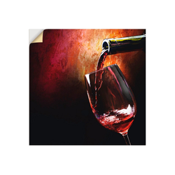 Artland Wandbild Wein - Rotwein, Getränke (1 Stück) 70 cm x 70 cm