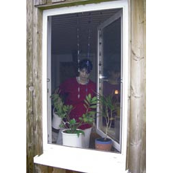 Insektenschutz - Fenster, Farbe weiß, 120 x 150 cm