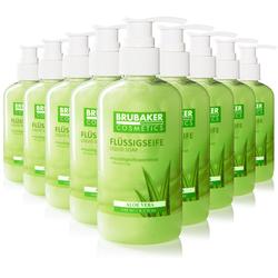 BRUBAKER Handseife Flüssigseife mit Aloe Vera Duft, 30-tlg., feuchtigkeitsspendend, im praktischen Spender grün