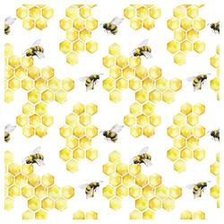 Linoows Papierserviette 20 Servietten, Nutztiere, die Honigbiene, Bienen, Motiv Nutztiere, die Honigbiene