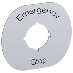ABB MA6-1101 Abdeckung (B x H) 67mm x 1mm EMERGENCY STOP Gelb 1St.