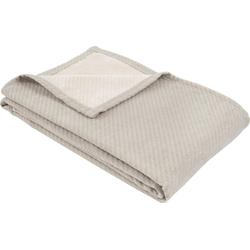 Wolldecke Baumwoll-Tencel Decke Tennessee, IBENA, schlicht grau