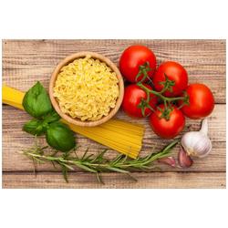 Wallario Sichtschutzzaunmatten Spaghetti mit Tomaten, Knoblauch und Basilikum 61 cm x 91.5 cm