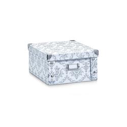 HTI-Living Aufbewahrungsbox Aufbewahrungsbox Pappe, weiß Vintage, Aufbewahrungsbox 14 cm x 14 cm