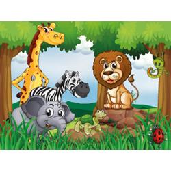 Fototapete Jungle Animals, glatt 3 m x 2,23 m