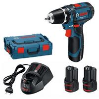 Bosch GSR 12V-15 Professional inkl. 2 x 2,0 Ah + L-Boxx 0601868109