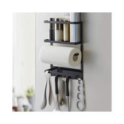 Yamazaki Küchenregal Tower, Utensilienhalter, Küchenutensilienhalter, Organizer, magnetisch schwarz