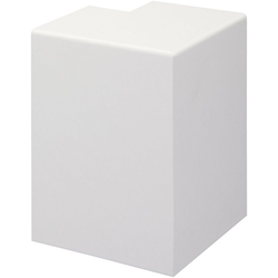 BODENMEISTER Set: Außenecken Rohrabdeckleiste Weiß, 2er-Pack, Höhe: 10 cm weiß