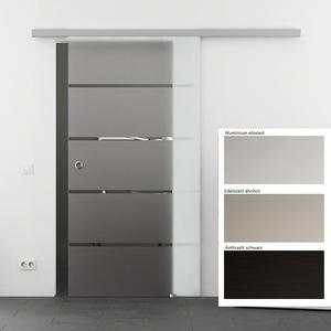 Glasschiebetür BASIC - opt. Softclose 1-flg. S-Design Dekor