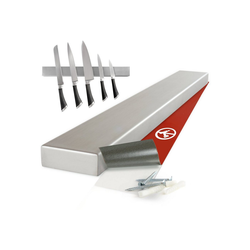 Moritz & Moritz Magnet-Messerblock Magnetleiste für Messer - Messerhalterung (1tlg), Edelstahl 40 cm