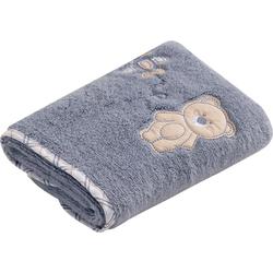Vossen Handtuch Teddy (2-St), mit niedlicher Stickerei blau