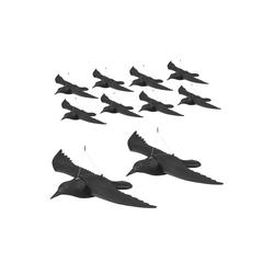 relaxdays Gartenfigur 10 x Taubenschreck Krähe fliegend