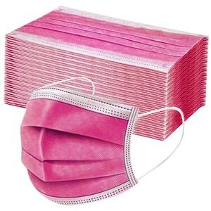 MONDHAUS 50 Stück Einweg-Mundschutz, pink, Staubschutz, atmungsaktiv, erwachsenes Kopftuch, Gesichtsbedeckung, Sommerschal. (Rosa)