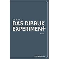 Das Dibbuk Experiment. Martin Kolozs  - Buch