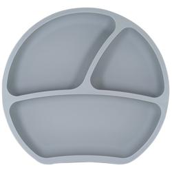 Kindsgut Kindergeschirr-Set (1-tlg), Silikon, Kindsgut Teller, Silikon, Saug-Geschirr, dunkelgrau, geprüft, BPA-frei, umweltfreundlich, rutschfest, für Babys und Kleinkinder grau