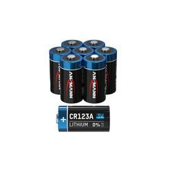 ANSMANN® 8x CR123A Lithium Batterie 3V - Hochleistungsbatterie (8 Stück) Batterie