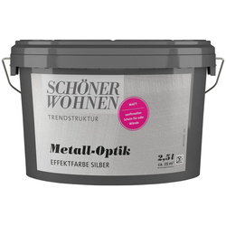 SCHÖNER WOHNEN-Kollektion Wandfarbe Metall-Optik Effektfarbe silber, 2,5 l