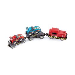 Hape Spielzeug-Eisenbahn Rennwagen-Transporter