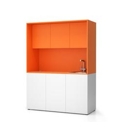 Büroküche nika mit waschbecken und wasserhahn 1481 x 600 x 2000 mm,