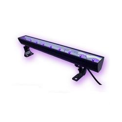 SATISFIRE Discolicht UV50LED BAR - 9x3W Schwarzlicht Bar - Metallgehäuse schwenkbar - SATISFIRE