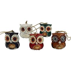 Guru-Shop Dekofigur 5er Set Anhänger, kleine Holzfigur, Tierfigur..