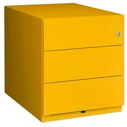 BISLEY Note Rollcontainer gelb 3 Auszüge