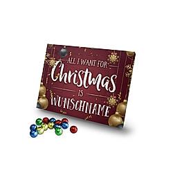 Personalisierter Schoko-Adventskalender (Typ: All I want for Christmas) - Kalender