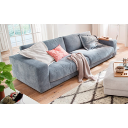 Candy Sofa San Francisco in hellblau, mit 84 cm Sitztiefe