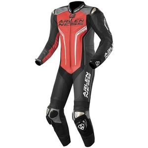 Arlen Ness Sugello 1-Teiler Motorrad Lederkombi Schwarz Rot 48