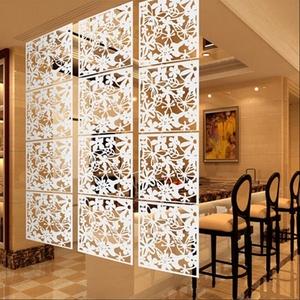 Fenteer 4 Stück Raumteiler Kunstoff Trennwand spanische Wand Sichtschutz Raumtrenner - Weiß