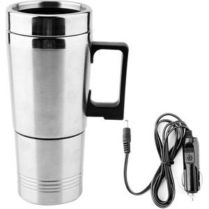 KIMISS 350 / 150ML Auto Wasserkocher, Edelstahl 12V Auto Wasserkocher Kaffee Tee Thermoskanne Wasser Heizung Tasse Reise Wasserkocher