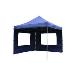 VCM Pavillon Falt Pavillon 3x3m blau+2 Seitenteile, PROFI-Ausführung