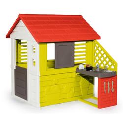 Smoby Spielhaus Natur mit Sommerküche, Made in Europe